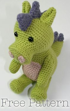 Mesmerizing Crochet an Amigurumi Rabbit Ideas. Lovely Crochet an Amigurumi Rabbit Ideas. Crochet Dinosaur Patterns, Crochet Dragon Pattern, Crochet Amigurumi Free Patterns, Crochet Dolls, Pixel Crochet, Ravelry Crochet, Knitting Patterns, Cute Crochet, Crochet Baby