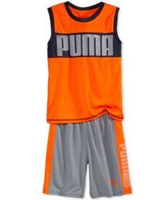 Puma Little Boys' 2-Piece Logo Tank & Shorts Set