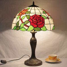 Rose Tiffany Lamp 16S0-69T311
