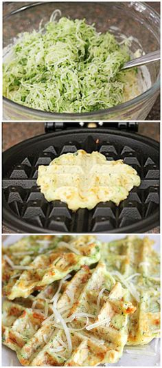 Zucchini Parmesan Waffles