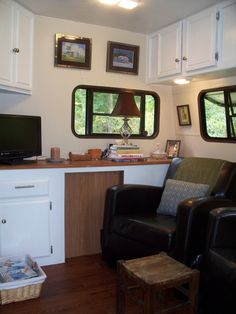 Seasonal Travel Trailer II, We bought a 1993 travel trailer and revamped the interior to use as a seasonal trailer at a campground. Now, if only there was a way to get some Curb Appeal...... Note: I posted this earlier, but was unable to update the pics., Other Spaces Design
