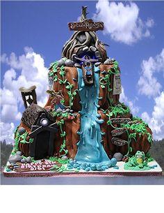 Splash Mountain Birthday Cake
