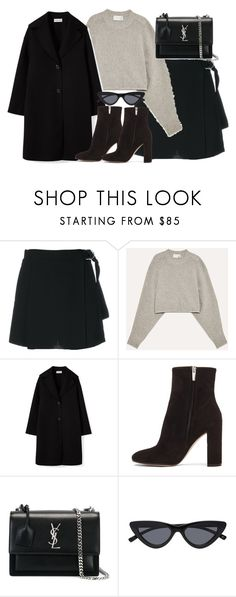 """Untitled #5346"" by theeuropeancloset ❤ liked on Polyvore featuring Carven, Wilfred, Gianvito Rossi and Yves Saint Laurent"