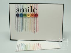 Stampin' Up! Stamping T! - Smile Rainbow Card