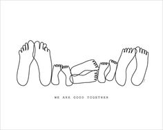 We are good together print by Isa