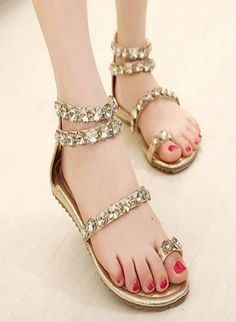 e333b06cbcd3 Fancy Ladies Sandals With Shining Glass Beats Style