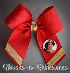 Princess Elena Bow, Princess Elena Boutique Bow, Disney's Elena Bow, Princess Elena of Avalor Bow, Elena Costume Bow, Elena Birthday by RnRshairbowsandmore on Etsy https://www.etsy.com/listing/454062088/princess-elena-bow-princess-elena