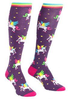 Sock It To Me Winging It Knee High Socks | Attitude Clothing