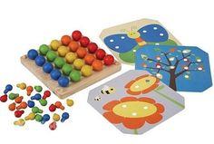 Мозаика деревянная с карточками-шаблонами, Plan Toys. 1289 руб.