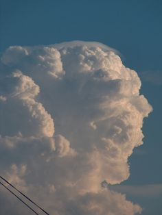 Cumulonimbus pileus - Wolken Online