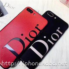 パロディー ディオールアイフォン8plusケース スクラブ iphone8カバー 黒 赤 アイコニックな(DIOR)イニシャルロゴ付きのジャケット7/6s携帯カバー オシャレ ブランドアイフォン7s/7splus ペアケース カップル