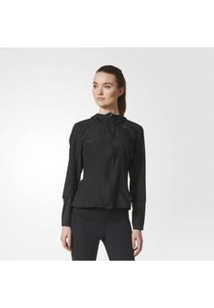adidas Performance. Sports jacket - black. Outer fabric material:100% polyester. Pattern:plain. Care instructions:machine wash at 30°C,Tumble Dry. Sleeve length:long. Qualities:breathable. Extras:reflective elements. Fit:regular. Our model'...