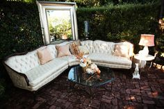 Perfect lounge furniture, for a charming southern wedding. Direct from California at ARCHIVE Vintage Rentals.