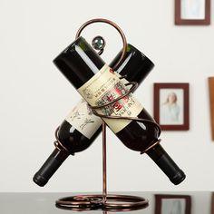 Stylish Wrought Iron Wine Rack - Creative European Home Decoration