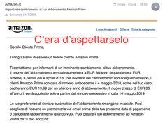Amazon Prime aumenta il tiro: dal 4 aprile il costo sarà di 36 euro
