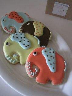 ELEPHANT WALK Sugar cookies Vanilla Lemon or by justcrumbs on Etsy