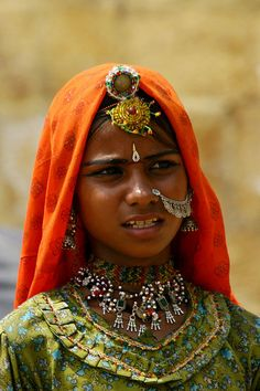 Girl of Jaisalmer, Rajasthan, India © Surendar Balakrishnan Jaisalmer, We Are The World, People Around The World, Beautiful Children, Beautiful People, India Colors, India People, India And Pakistan, Portraits
