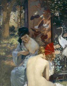 Rupert Bunny ( peintre Australien ) 1864 1947  The Sun bath