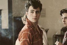 "Aaron Johnson as John Lennon in ""Nowhere Boy."" Good movie...he's way too cute to be John Lennon."