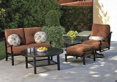 Lightweight and easy to move around, aluminum is a popular choice for outdoor furniture