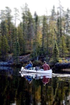 Canoeing in the wilderness. #livemajor