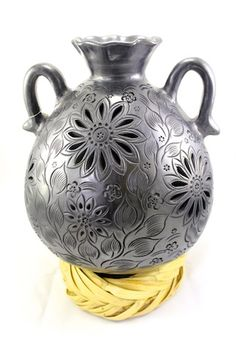 Brilliant pottery & ceramic gallery : Florinda Vase $95.00 #barronegro
