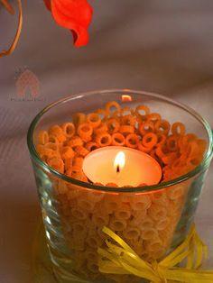 romantyczny makaron świecznik