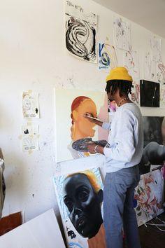 Studio Visits: Devin B Johnson Art Hoe Aesthetic, Exhibition, Make Art, Art Studios, Graphic, Artist At Work, Art Inspo, Illustration, Muse