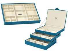 Rectangular Stackable Jewelry Organizers - Turquoise from Julie Morgenstern on OpenSky