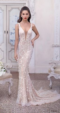 The Chic Technique: Demetrios 2019 bridal sleeveless deep plunging v neck full emebllishment glamorous elegant sheath fit and flare wedding dress backless sccop back medium train mv -- Platinum by Demetrios 2019 Wedding Dresses V Neck Wedding Dress, Perfect Wedding Dress, Lace Wedding, V Neck Fit And Flare Wedding Dress, Floral Wedding, Western Wedding Dresses, Bridal Dresses, Event Dresses, Glamour