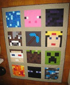 Pintrest Minecraft Quilts   minecraft quilt   Alex