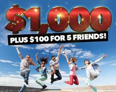 Check out some of our amazing sweepstakes & prizes. Join now and enter for a chance to win. Be on of our daily winners! Five Friends, Cash For You, Thing 1, Who Will Win, Good News, Behind The Scenes, The 100, Family Guy, Popular