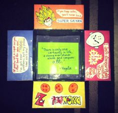 My Dragon Ball Z care package for the hubby