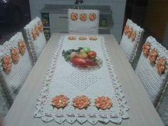 örgü mutfak masası örtüsü ve sandalye kılıfları (7)
