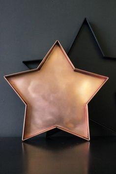 Copper Star Tray from Rockett St George #interiorshive #startray #teatray…