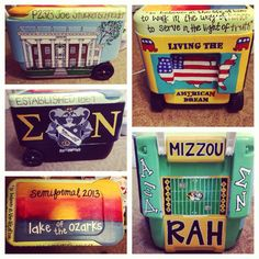 painted college coolers - Google Search