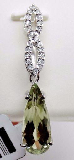 3.85 Ct. Zultanite® .15 Ct. Diamond Pendant 14k Solid Gold NWT Natural BP02356 #zultanite #Pendant