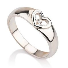 Heart Ring Promise Ring in Sterling Silver Couples Ring Available sizes 5556657758859 5 ** Click image to review more details. (This is an affiliate link and I receive a commission for the sales)