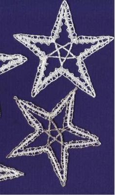 Small Tape Lace Star by Janice Blair Types Of Lace, Bobbin Lace Patterns, Lacemaking, Lace Design, Christmas Crafts, Projects To Try, Pinterest Board, Stars, Origami