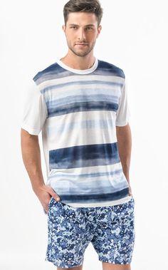 Ref. 7451 - Conjunto totalmente Modal de camiseta com estampa localizada na…