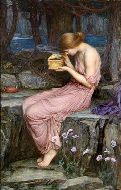 """John William Waterhouse (1849-1917), """"Psyche Opening the Golden Box,"""" 1903. Oil on canvas. Private collection."""