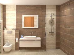 Paradyz Amiche burkolattal készült fürdőszoba látványterv!   #Paradyz #Amiche #Amici Alcove, Toilet, Bathtub, Bathroom, Standing Bath, Washroom, Flush Toilet, Bathtubs, Bath Tube