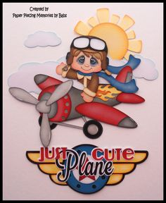 Paper piecing for scrapbooking, die cut, embellishment: Just Plane Cutre… Scrapbook Stickers, Scrapbook Paper Crafts, Scrapbook Supplies, Scrapbooking Layouts, Scrapbook Pages, Bridal Shower Scrapbook, Baby Boy Scrapbook, Paper Piecing Patterns, Scrapbook Embellishments