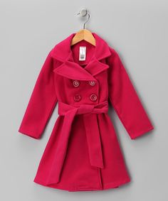 (Lurve this!!) Pink Double-Breasted #Peacoat by Just Kids on #zulily!