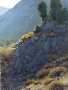 plein air and studio landscape oil paintings by nationally recognized Northern California artist Kathleen Dunphy Paintings I Love, Easy Paintings, Oil Paintings, Acrylic Paintings, Landscape Art, Landscape Paintings, River Painting, Miles To Go, Modern Landscaping