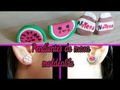 DIY PENDIENTES DE FOAMY MOLDEABLE l earrings with foamy moldable