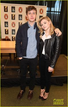 chloe moretz book signing with food poisoning 04 Chloe Moretz poses with her co-star Nick Robinson at a book signing and movie promo event for The 5th Wave held at Barnes and Noble at Ashley Park on Sunday (December…