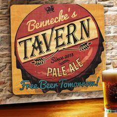 Personalized Fishing Bar Beer Tavern Pub Gift Fish Wall Sign #3 Custom USA Made