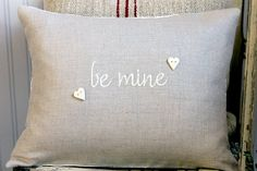 Valentines Decorative Pillow Cover flax by SuttonPlaceDesigns, $25.00