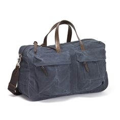 Tommy Trip Bag Indigo | WAXED CANVAS | LEATHER |STYLISH BAGS | CLASSIC DESIGN | MEN'S BAGS | TRAVEL |